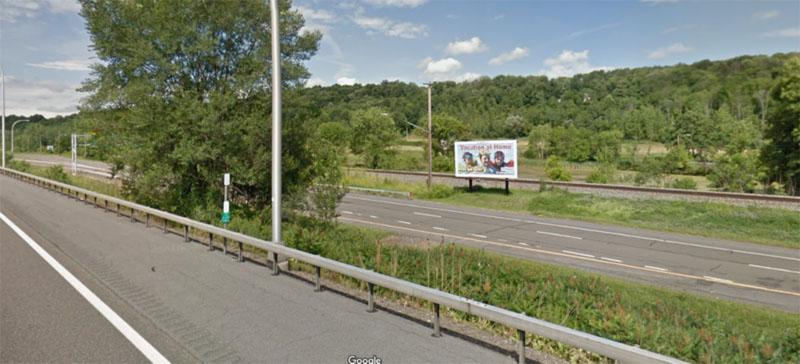 Google Street View of target billboard alongside highway and interstate